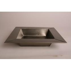 Bac carré en zinc mat
