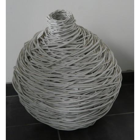 Vase Boule en Rotin
