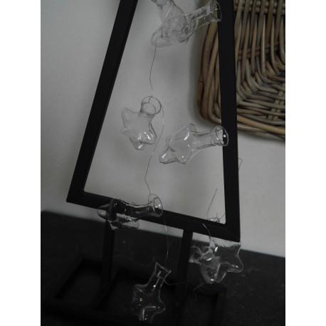 Guirlande de fiole etoile en verre