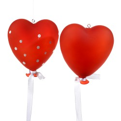 2 Ballons  a suspendre forme coeur