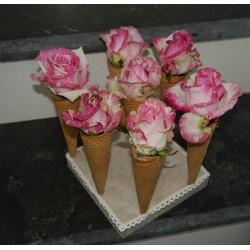 Cornet bouquet mariée