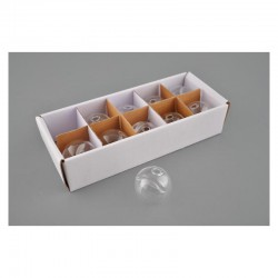 10 Soliflor Porte noms boule en verre