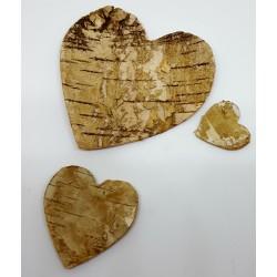 Coeur en verre et bois