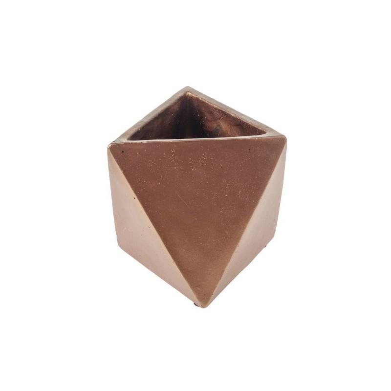 Cache pot beton cuivr aeris art 39 n flower - Cache pot beton ...