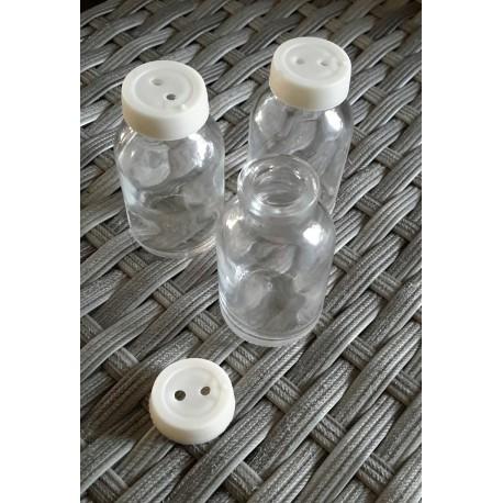 110 Fioles , Mini bouteille en verre sans bouchon