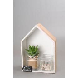 Maison soliflore en verre