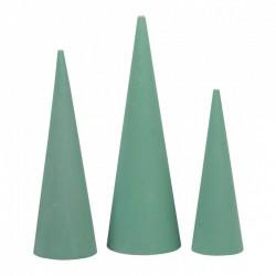 4 Cones en mousse florale