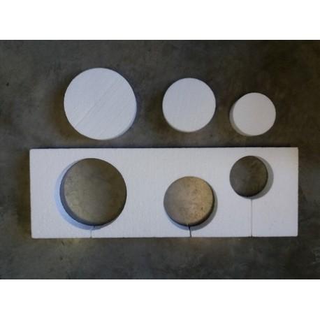 Styropor polystyrene 3 trous