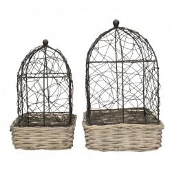 Cage fer et bois